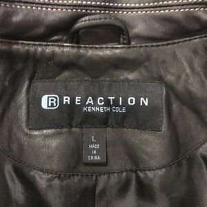 Kenneth Cole Reaction 100% Leather Coat